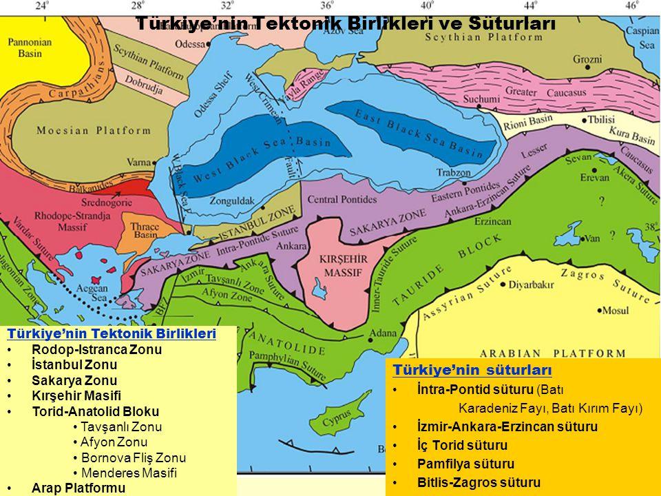 Türkiye'nin Tektonik Birlikleri ve Süturları