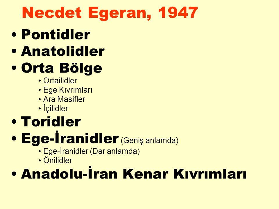 Necdet Egeran, 1947 Pontidler Anatolidler Orta Bölge Toridler