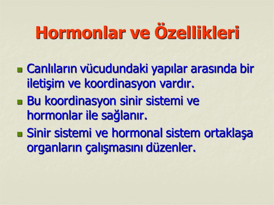 Hormonlar ve Özellikleri