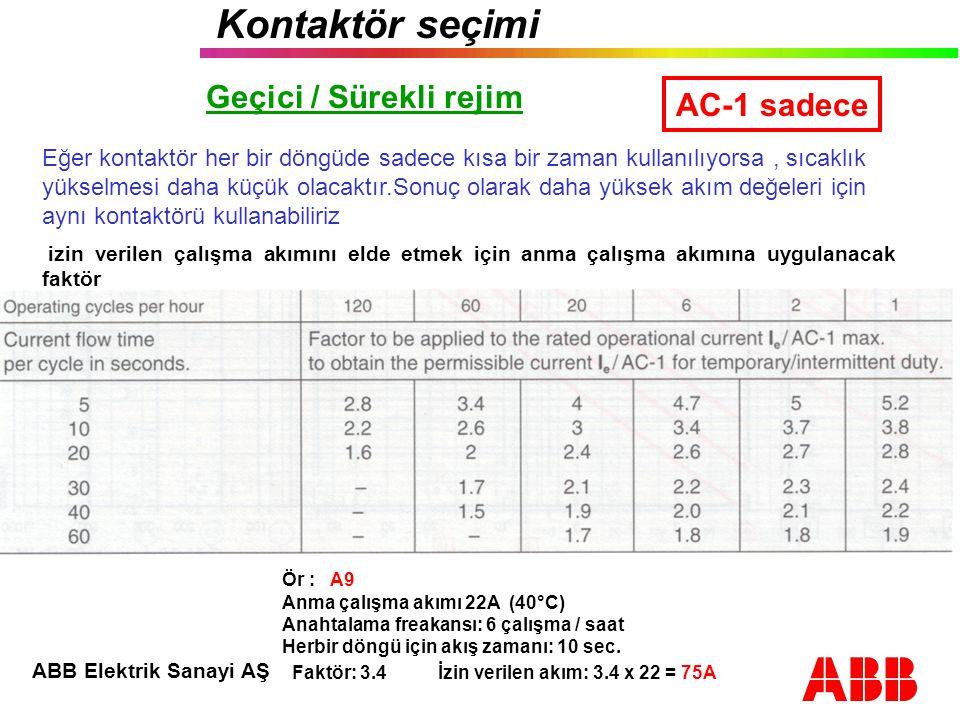 Faktör: 3.4 İzin verilen akım: 3.4 x 22 = 75A
