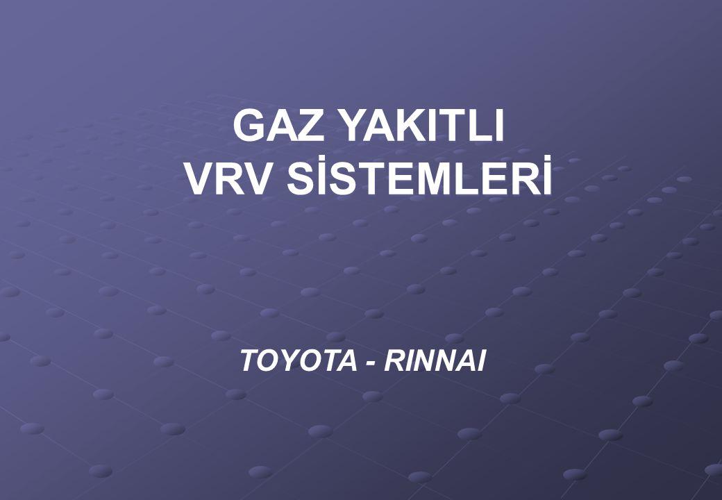 GAZ YAKITLI VRV SİSTEMLERİ