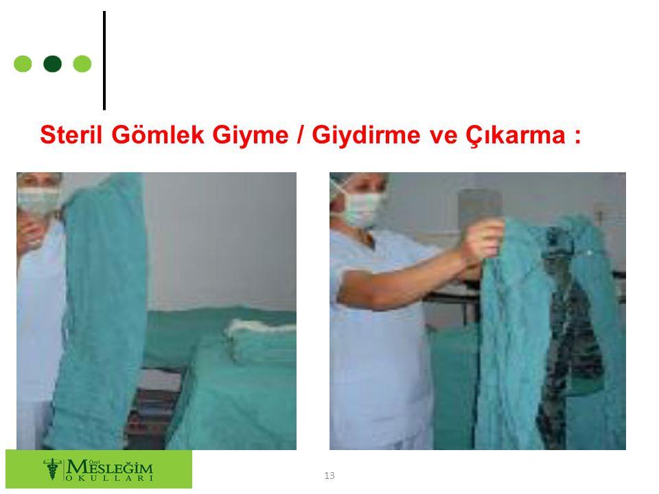 Steril Gömlek Giyme / Giydirme ve Çıkarma :