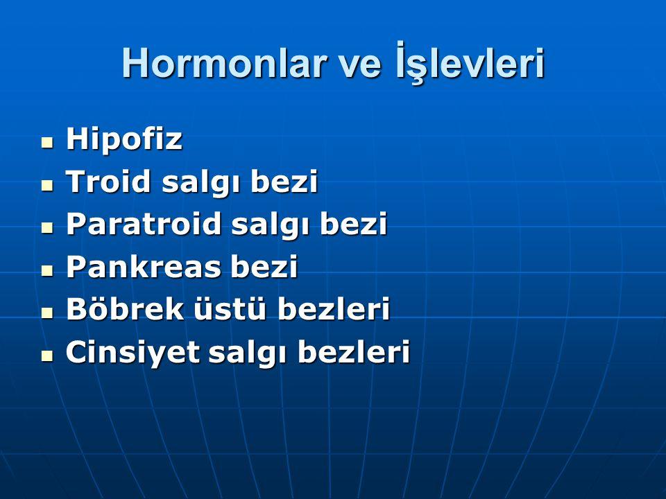 Hormonlar ve İşlevleri