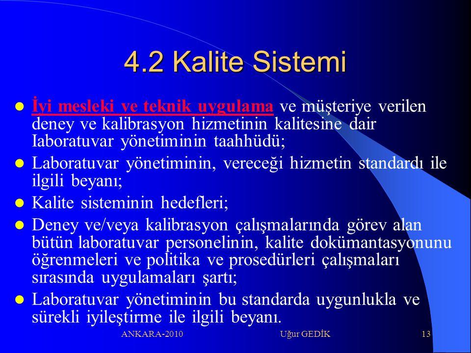 4.2 Kalite Sistemi