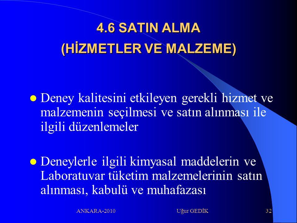 4.6 SATIN ALMA (HİZMETLER VE MALZEME)