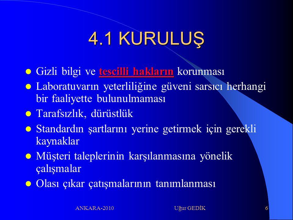 4.1 KURULUŞ Gizli bilgi ve tescilli hakların korunması