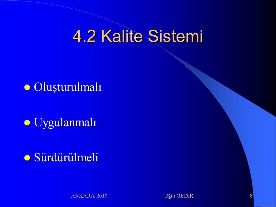 4.2 Kalite Sistemi Oluşturulmalı Uygulanmalı Sürdürülmeli