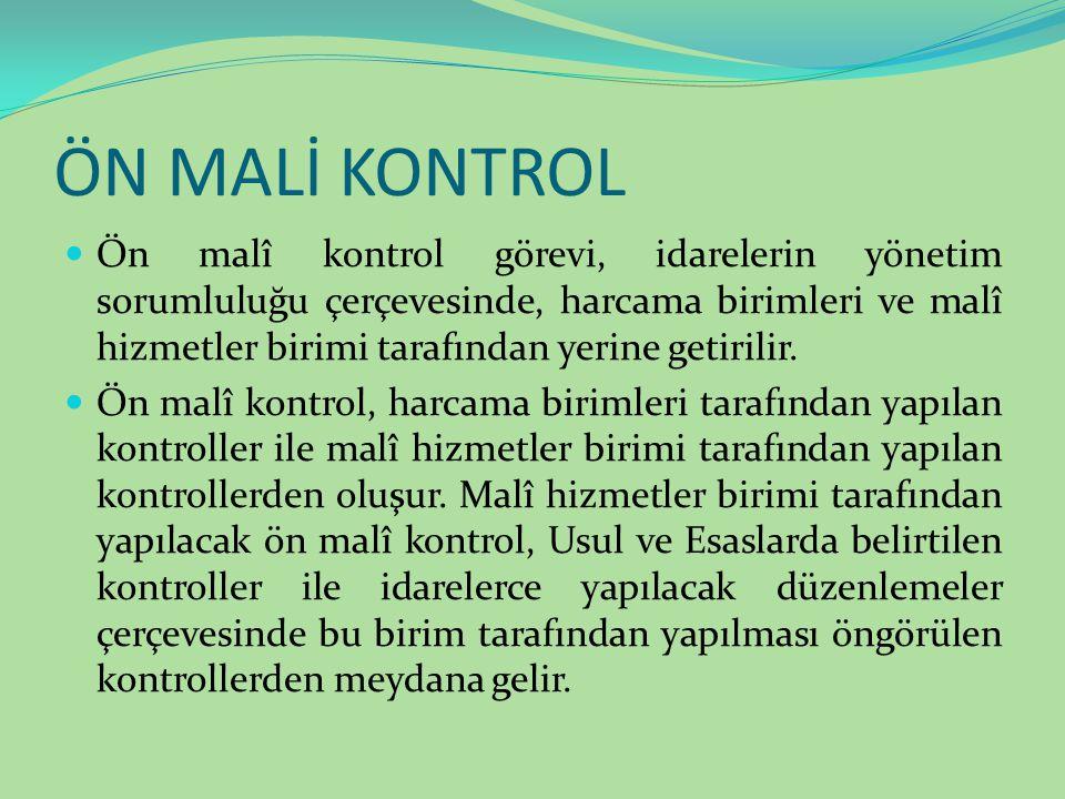 ÖN MALİ KONTROL