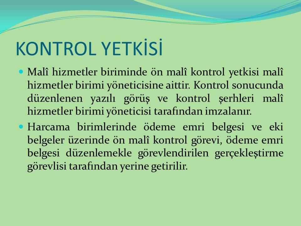 KONTROL YETKİSİ