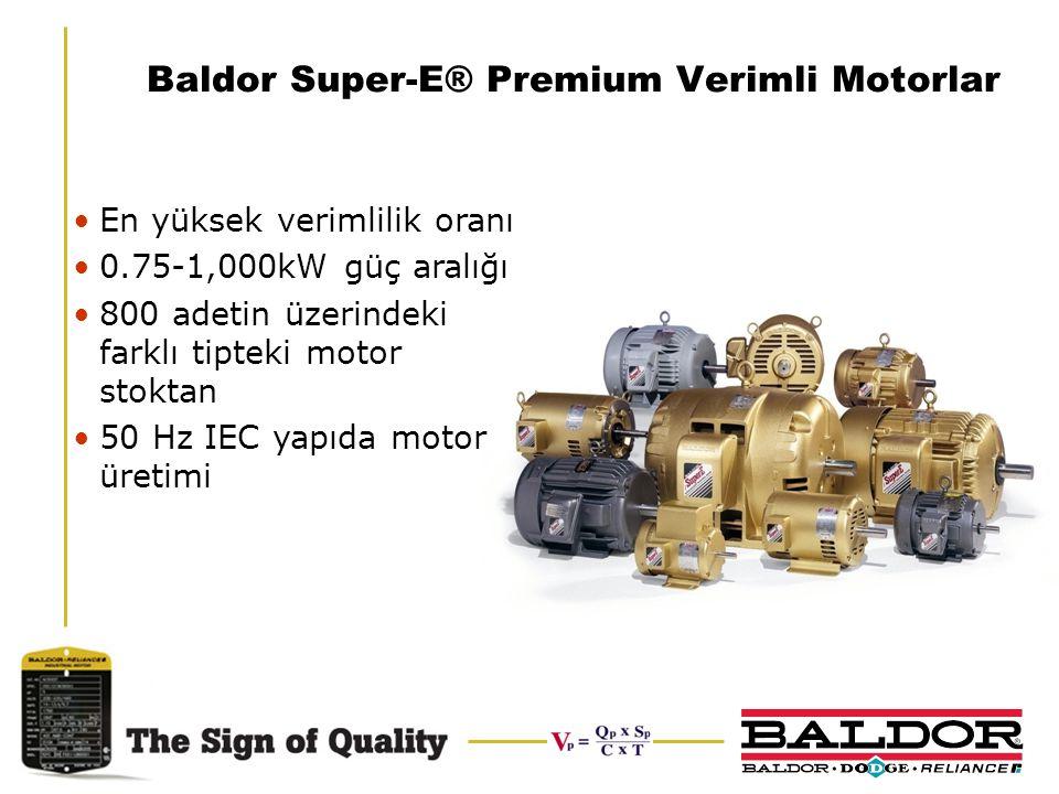 Baldor Super-E® Premium Verimli Motorlar