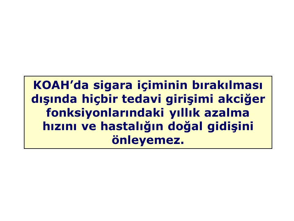 KOAH'da sigara içiminin bırakılması