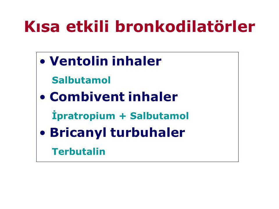 Kısa etkili bronkodilatörler