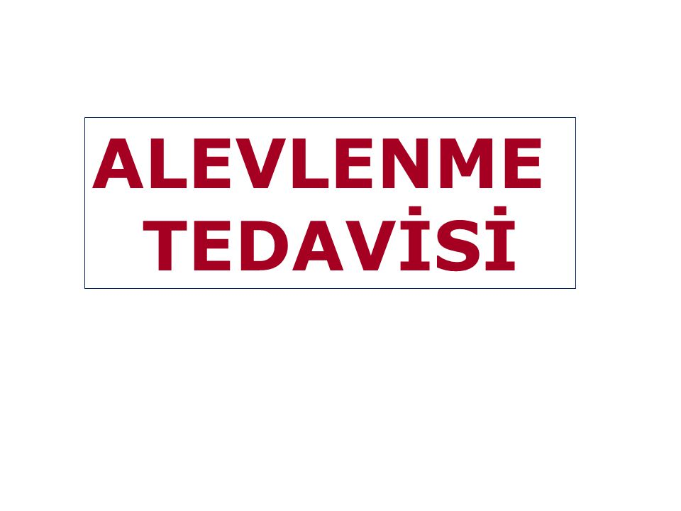 ALEVLENME TEDAVİSİ