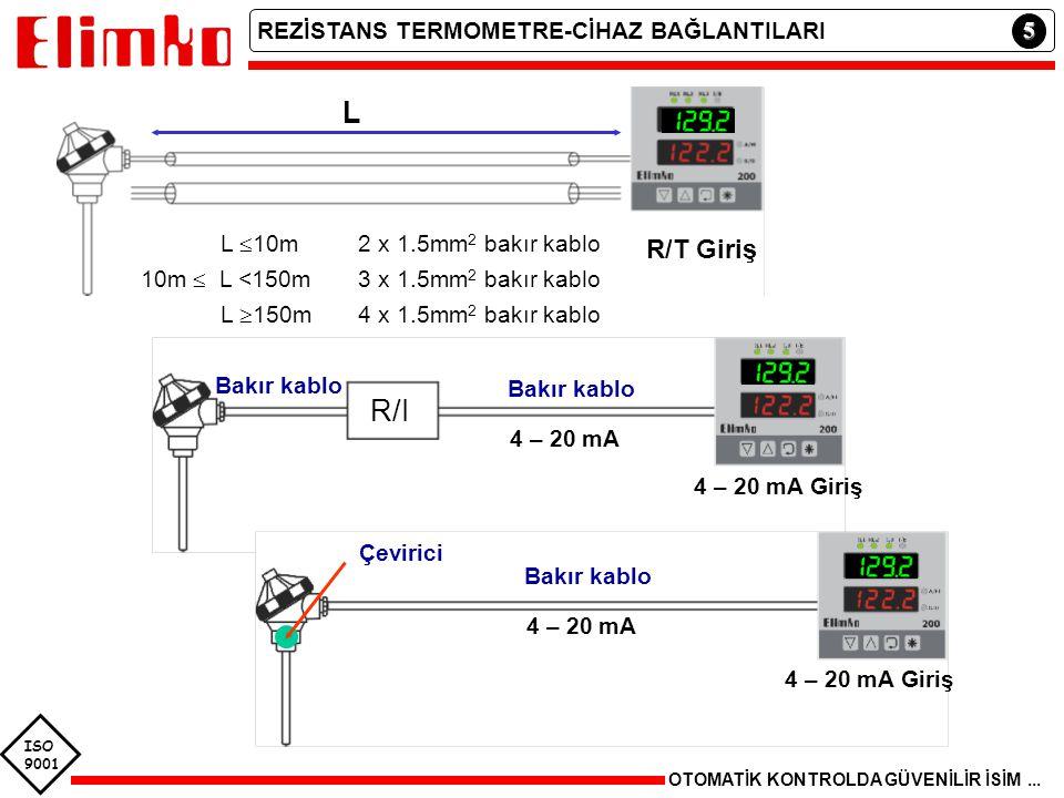 10m  L <150m 3 x 1.5mm2 bakır kablo
