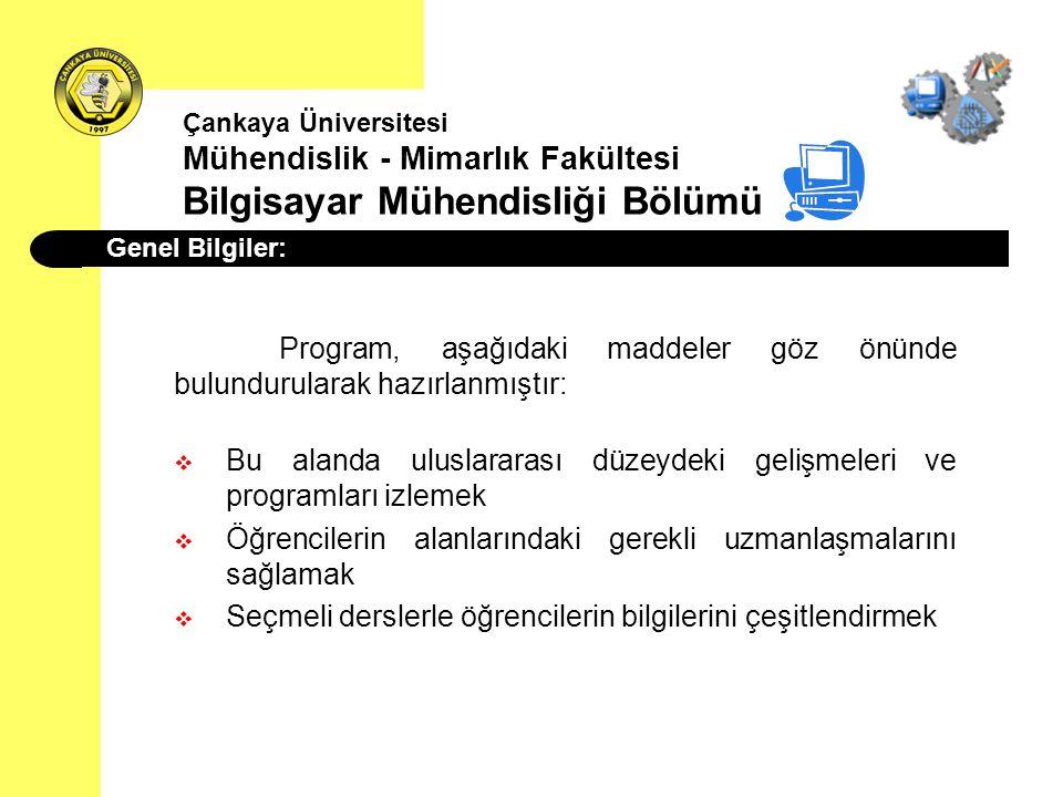 Program, aşağıdaki maddeler göz önünde bulundurularak hazırlanmıştır: