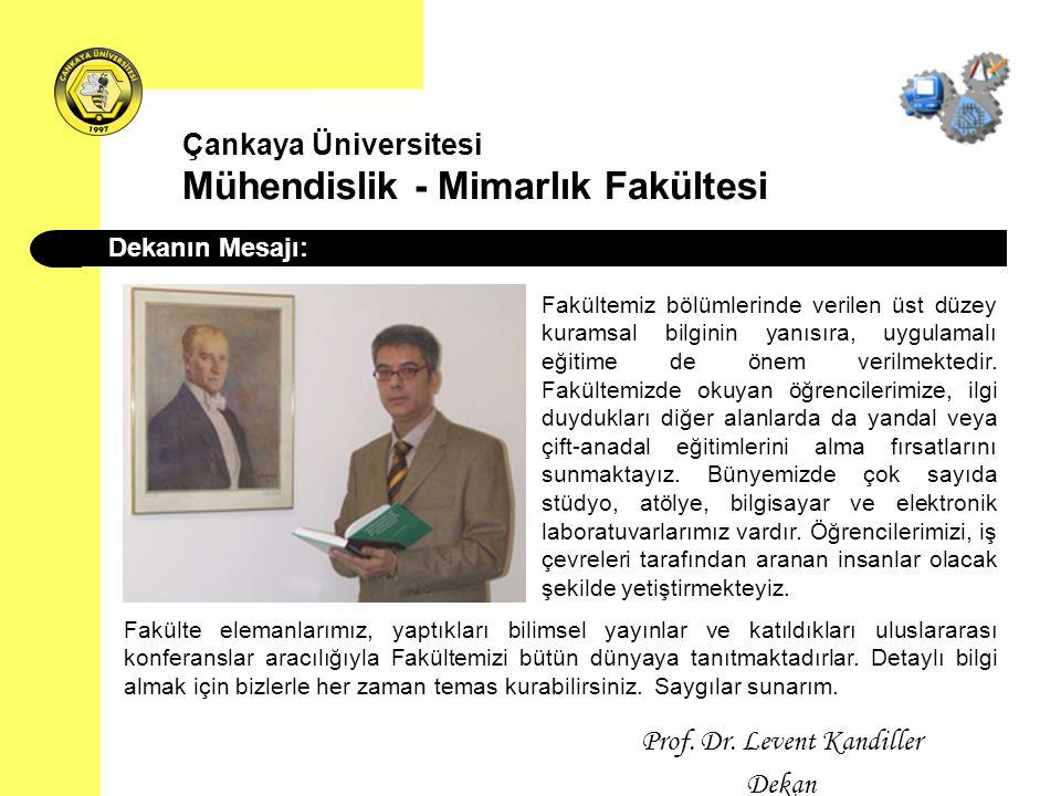 Çankaya Üniversitesi Mühendislik - Mimarlık Fakültesi