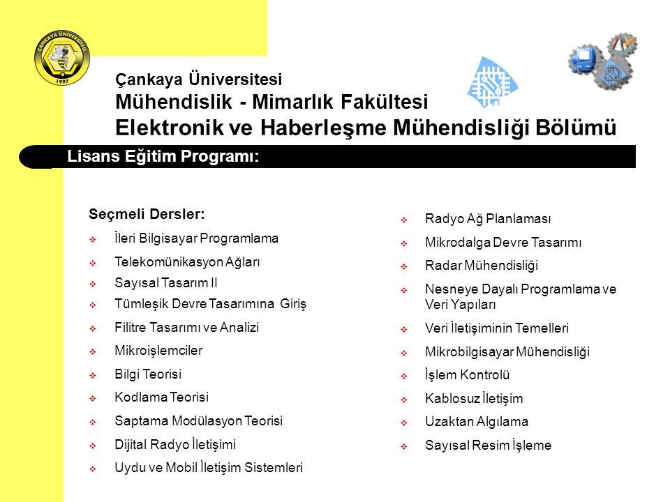 Lisans Eğitim Programı: