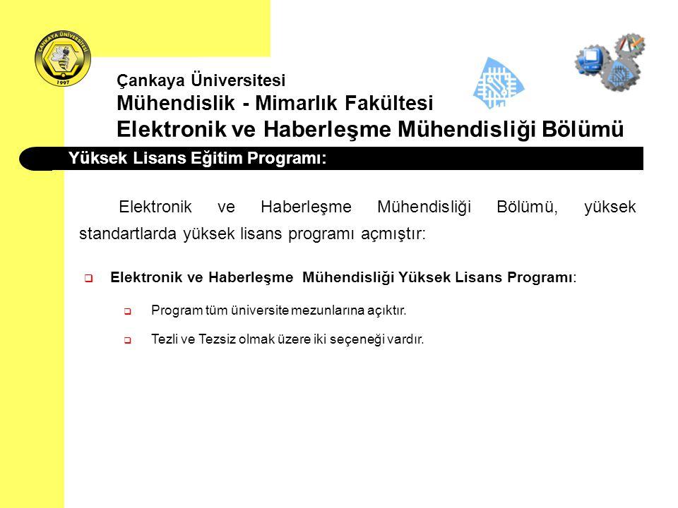 Yüksek Lisans Eğitim Programı: