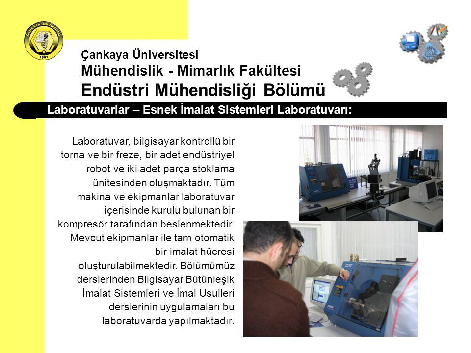 Laboratuvarlar – Esnek İmalat Sistemleri Laboratuvarı: