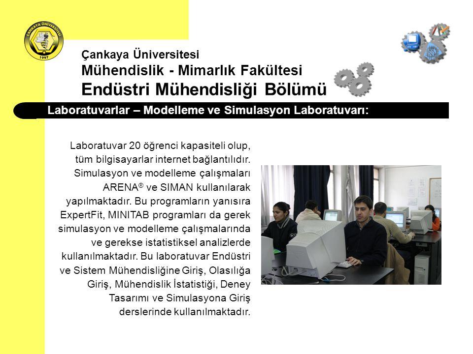 Laboratuvarlar – Modelleme ve Simulasyon Laboratuvarı: