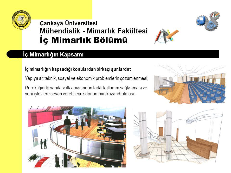 Çankaya Üniversitesi Mühendislik - Mimarlık Fakültesi İç Mimarlık Bölümü