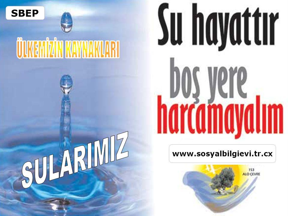 SBEP ÜLKEMİZİN KAYNAKLARI SULARIMIZ www.sosyalbilgievi.tr.cx