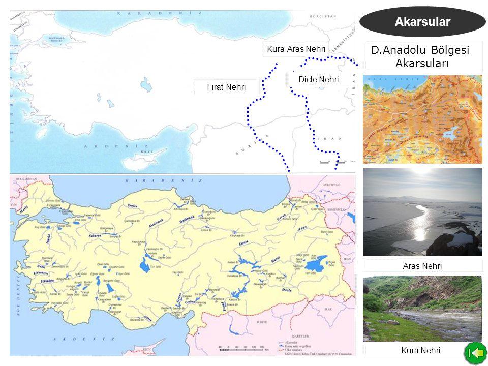 D.Anadolu Bölgesi Akarsuları