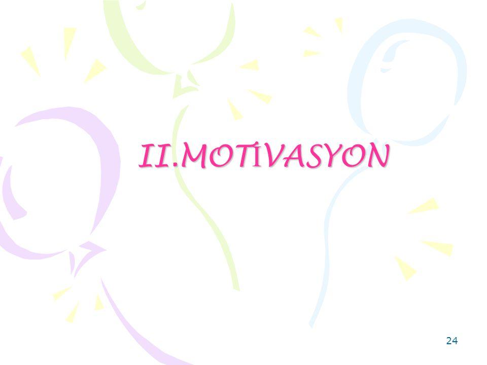 II.MOTİVASYON