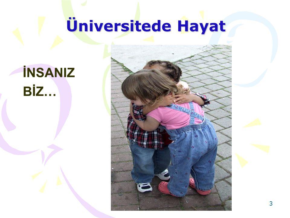 Üniversitede Hayat İNSANIZ BİZ…