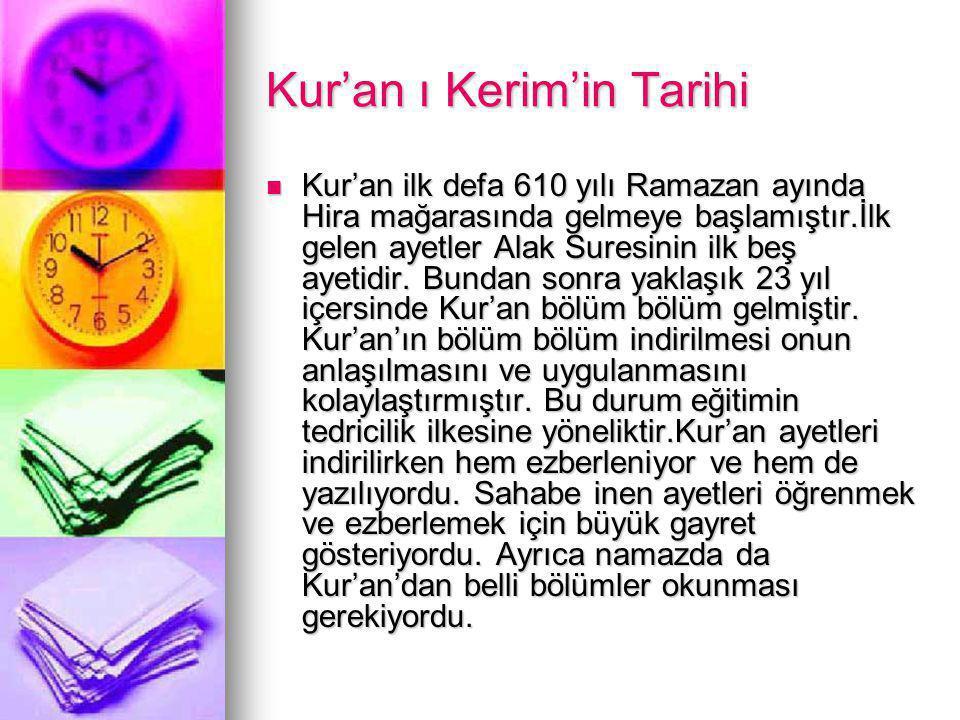 Kur'an ı Kerim'in Tarihi