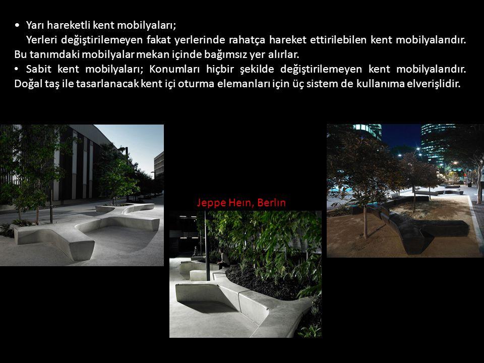 Yarı hareketli kent mobilyaları;