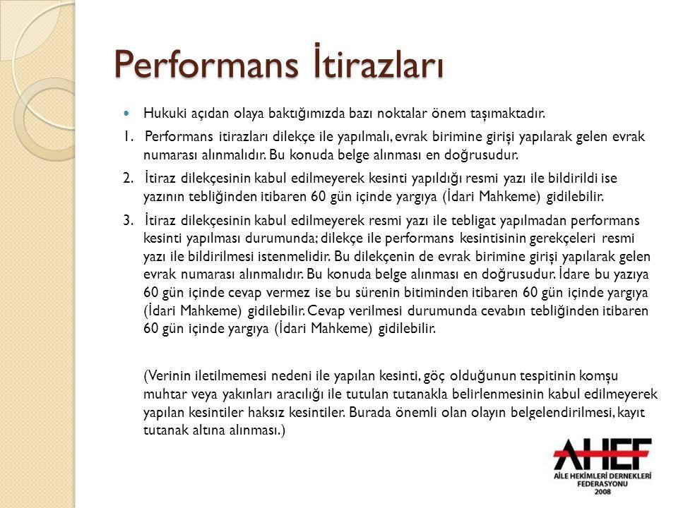 Performans İtirazları