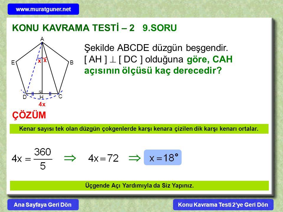   KONU KAVRAMA TESTİ – 2 9.SORU