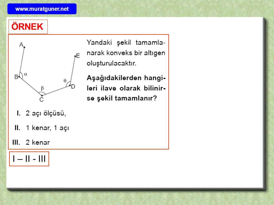 www.muratguner.net ÖRNEK I – II - III