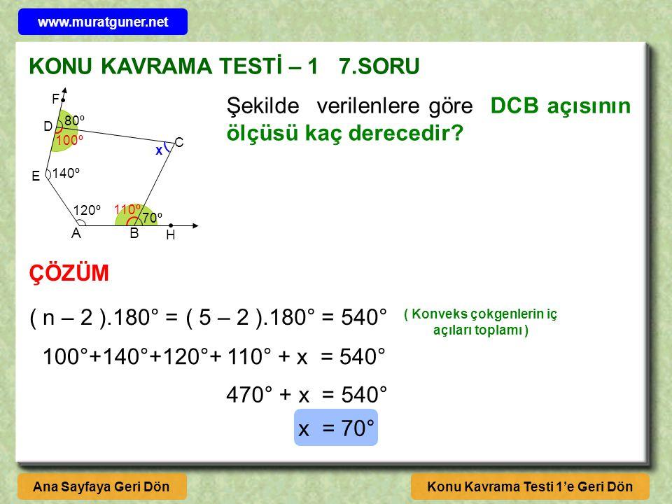 KONU KAVRAMA TESTİ – 1 7.SORU