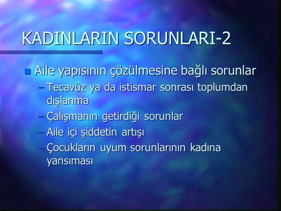 KADINLARIN SORUNLARI-2