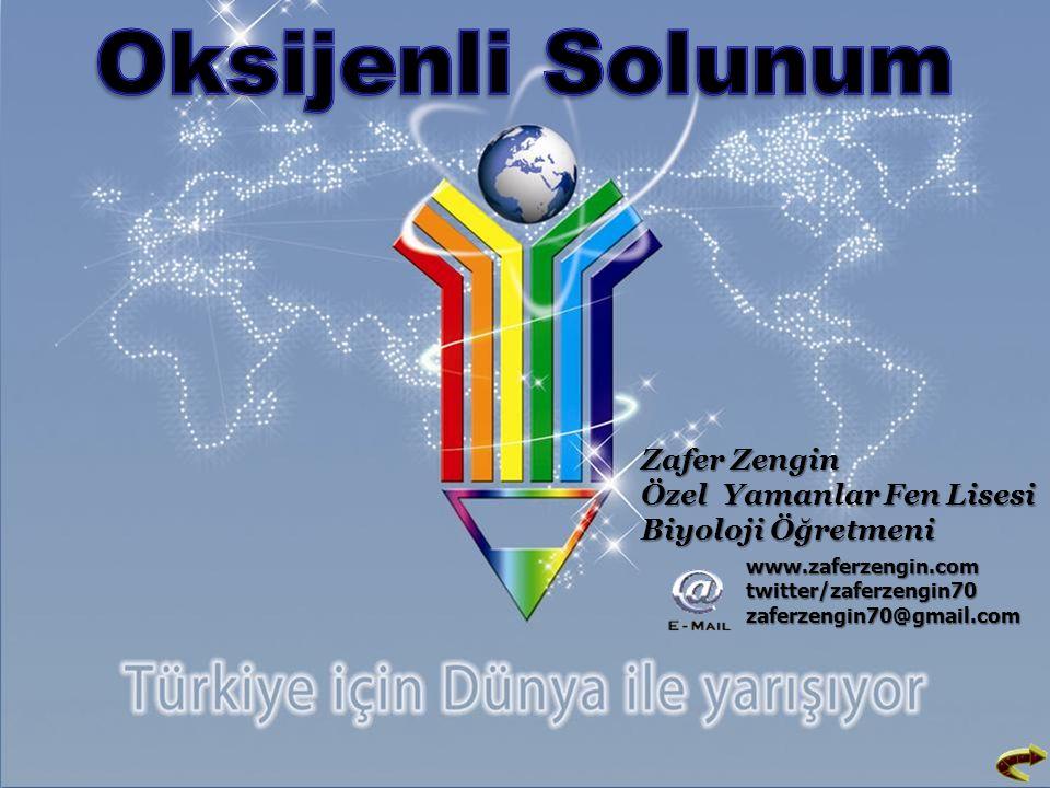 Oksijenli Solunum Zafer Zengin Özel Yamanlar Fen Lisesi Biyoloji Öğretmeni.