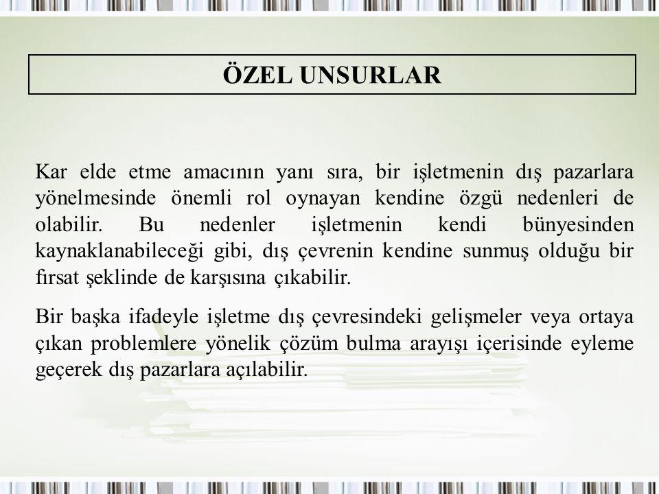 ÖZEL UNSURLAR