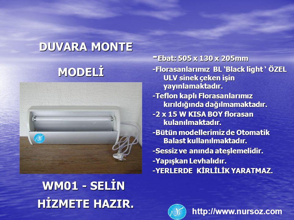 -Ebat: 505 x 130 x 205mm DUVARA MONTE MODELİ WM01 - SELİN