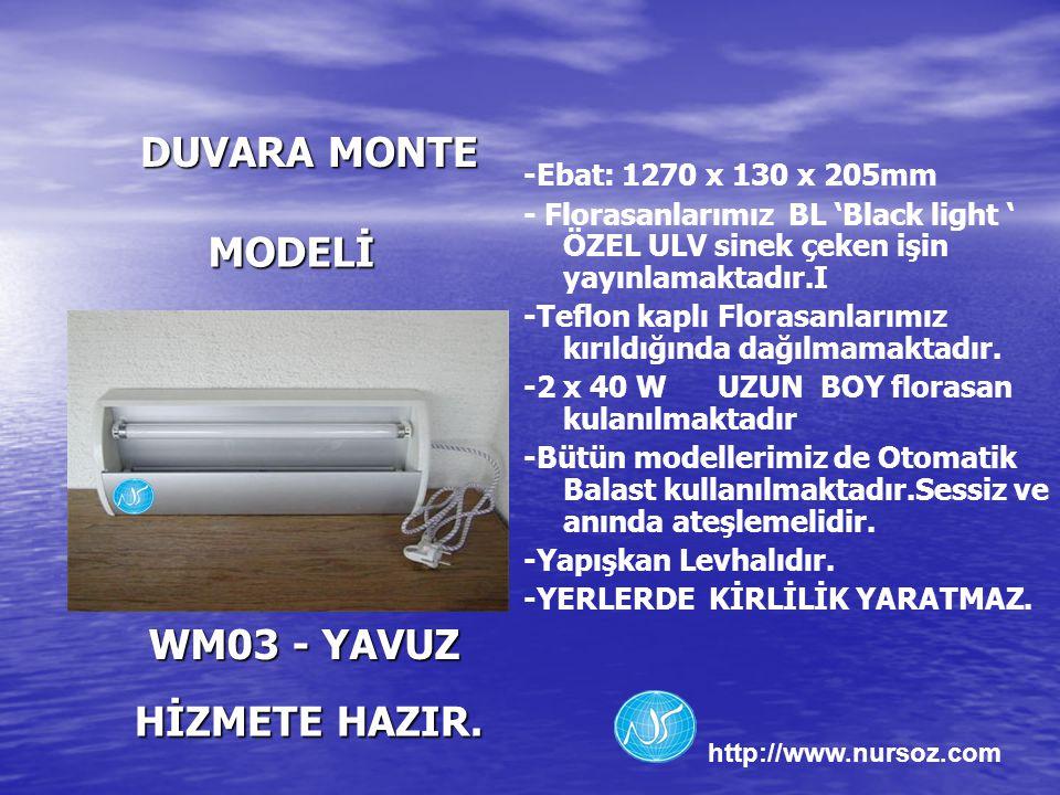 DUVARA MONTE MODELİ WM03 - YAVUZ HİZMETE HAZIR.