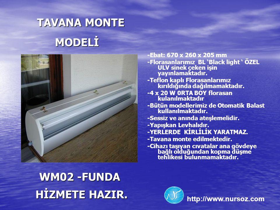 TAVANA MONTE MODELİ WM02 -FUNDA HİZMETE HAZIR.