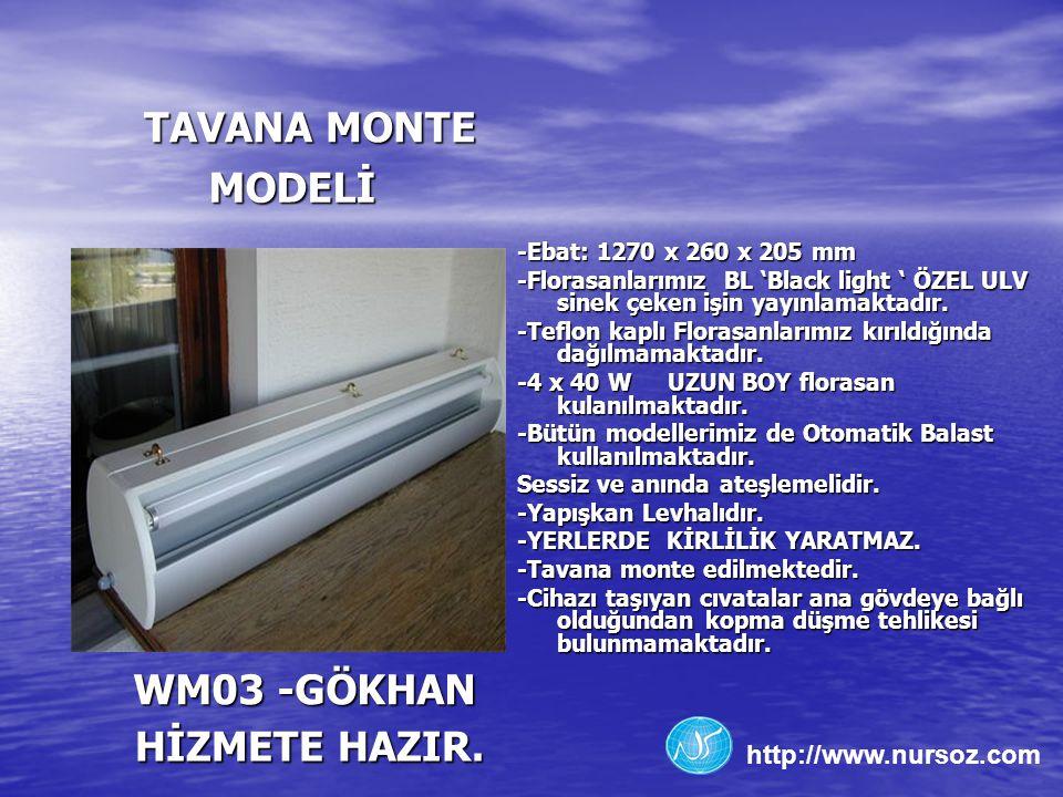 TAVANA MONTE MODELİ WM03 -GÖKHAN HİZMETE HAZIR.