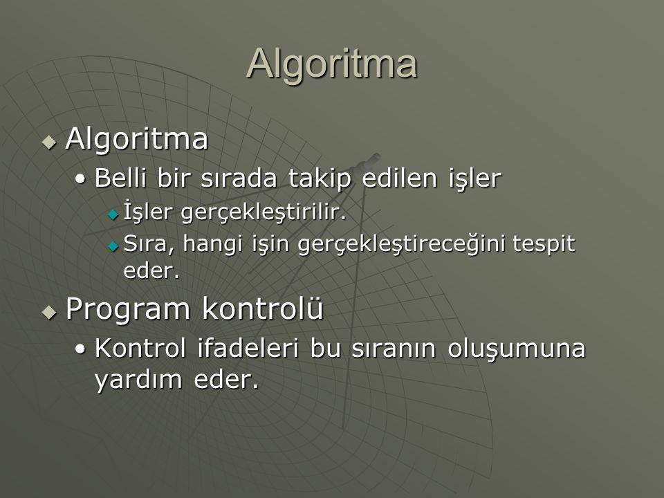 Algoritma Algoritma Program kontrolü