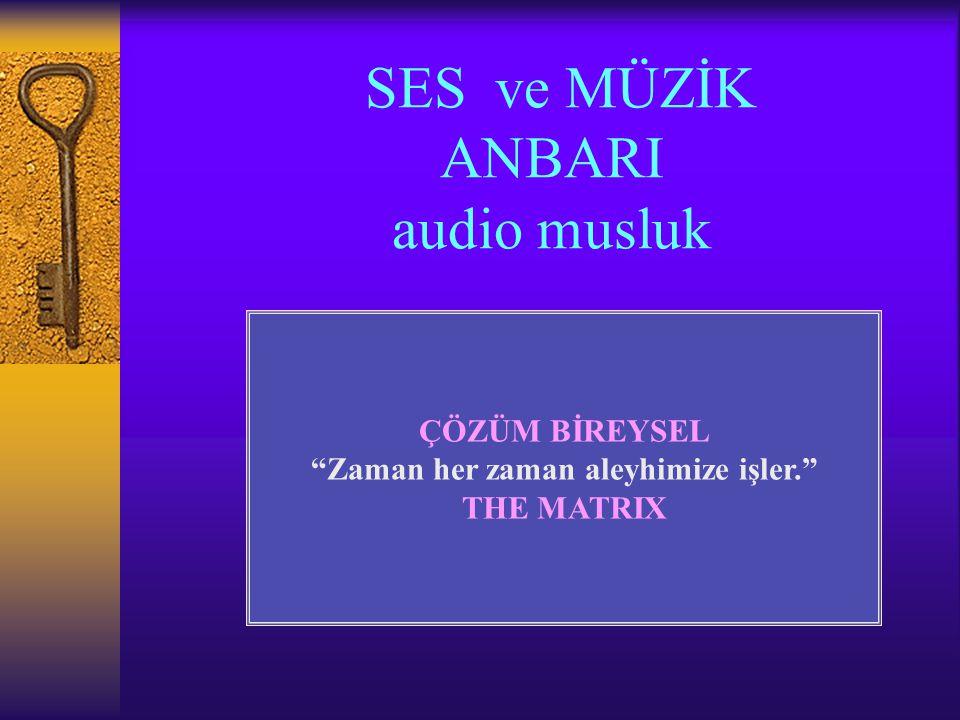 SES ve MÜZİK ANBARI audio musluk