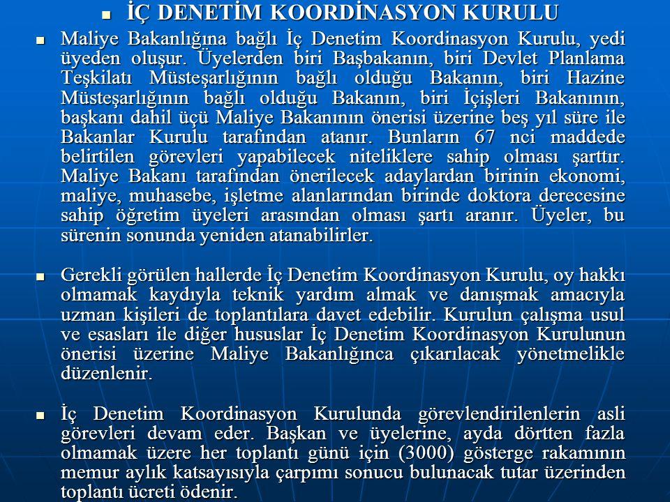İÇ DENETİM KOORDİNASYON KURULU