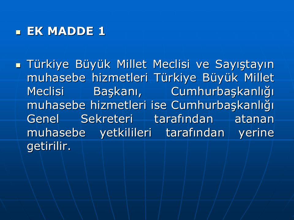 EK MADDE 1