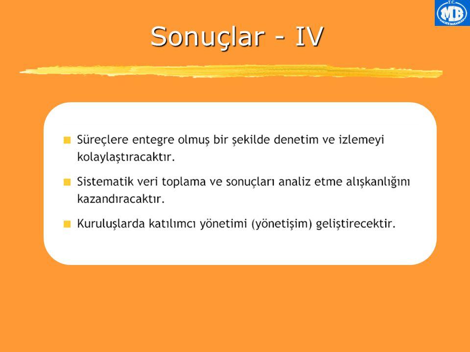 Sonuçlar - IV