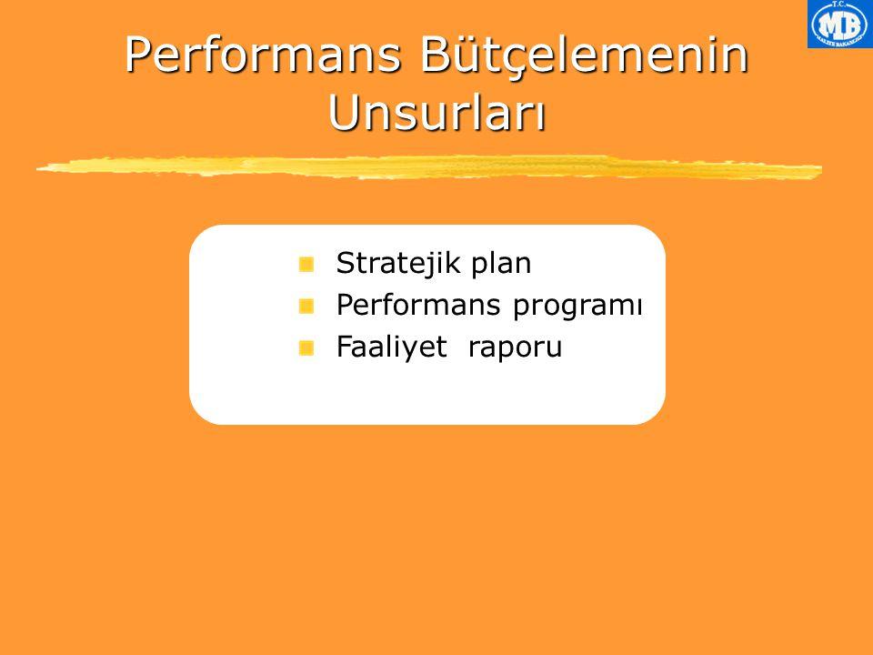 Performans Bütçelemenin Unsurları
