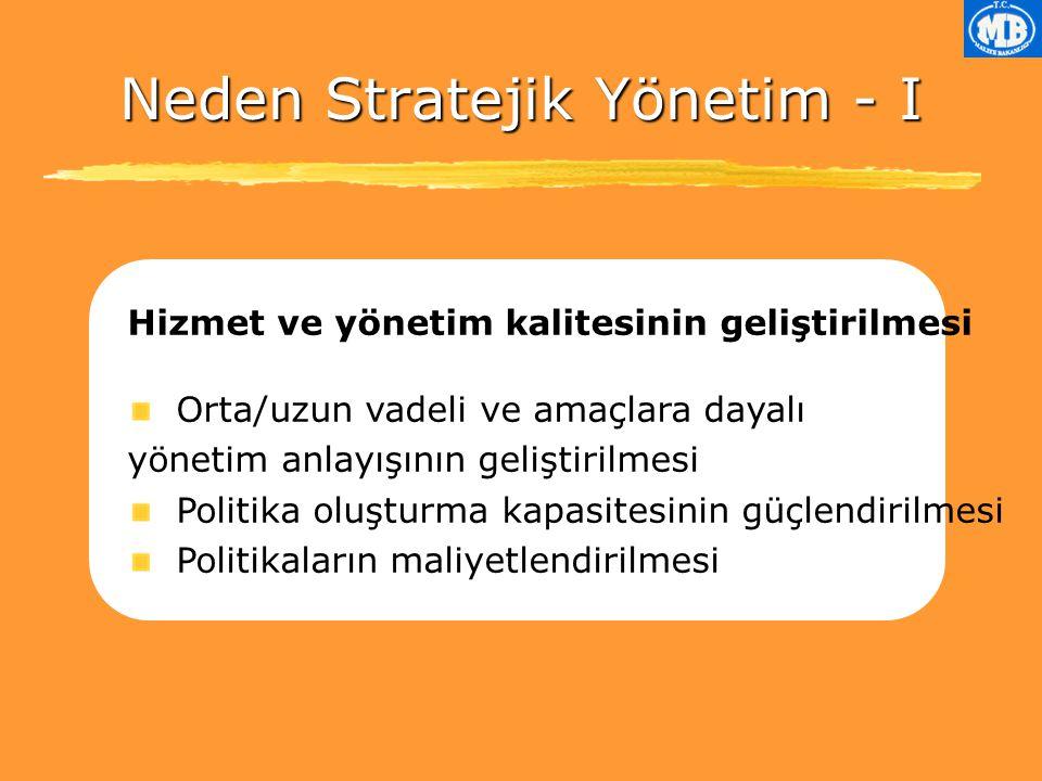 Neden Stratejik Yönetim - I