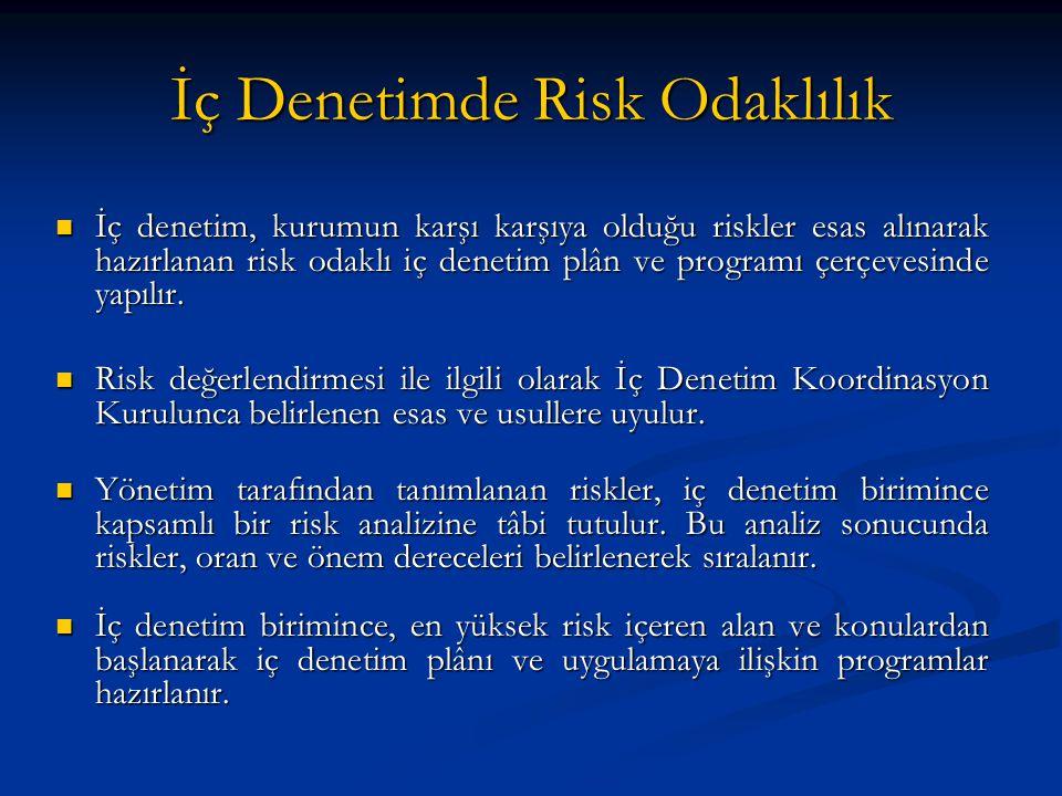İç Denetimde Risk Odaklılık